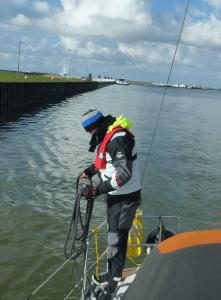 Hafentraining IJsselmeer Leinenhandhabung