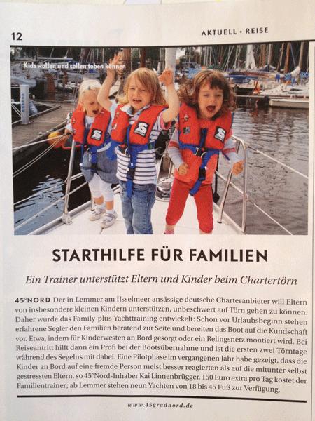Familiensegeln Yacht Ausgabe 9/2013