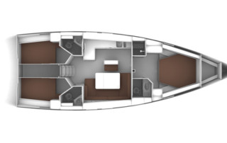 Bavaria Cruiser 46 3-Kabinen Layout