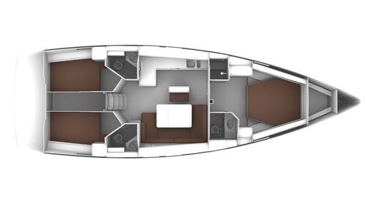 Bavaria Cruiser 46 3-Kabinen Layout