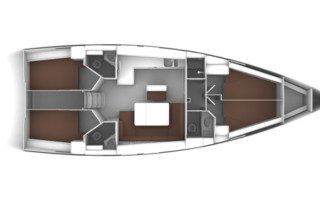 Bavaria Cruiser 46 4-Kabinen Layout
