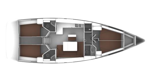 Bavaria Cruiser 46 4-Kabinen Layout