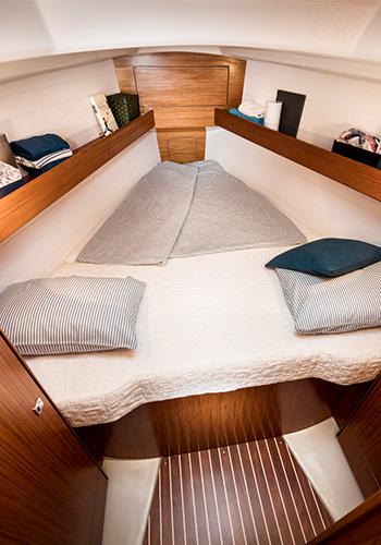 Bavaria Cruiser 34 Vorschiff Kabine