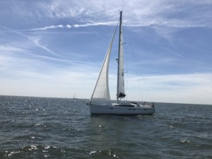 Skippertraining an Lemmer Schleuse